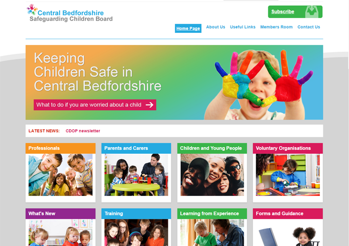 Central Bedfordshire Safeguarding Children Board website