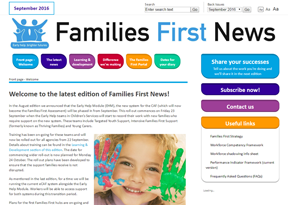 Hertfordshire County Council 'Families First News'