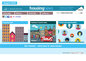 London Borough of Hackney 'housing news'