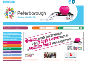 Healthy Peterborough website