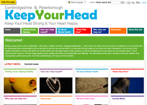 Cambridgeshire and Peterborough Mental Health 'Keep Your Head'