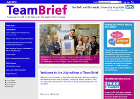 Norfolk and Norwich University Hospitals 'Team Brief'