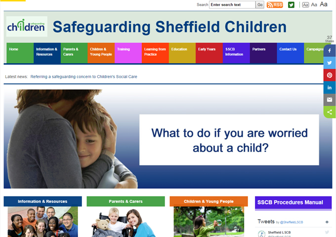 Safeguarding Sheffield Children - LSCB website