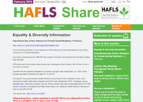 Hertfordshire County Council 'HAFLS Share'