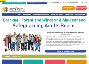 Bracknell Forest and Windsor & Maidenhead Safeguarding Adults Board website