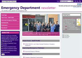 Norwich and Norfolk University Hospital Emergency Department newsletter