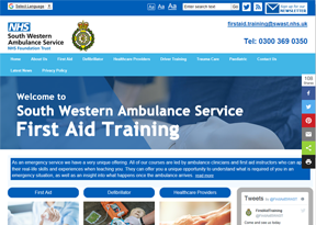 South West Ambulance Service Foundation Trust First Aid Training website