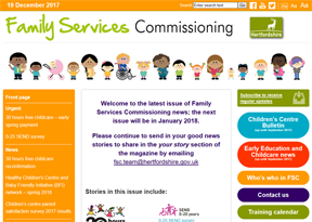 Hertfordshire County Council Family Services Commissioning