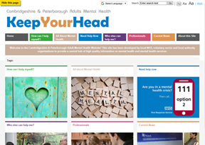 Cambridgeshire and Peterborough Mental Health Service - Keep Your Head - Adults