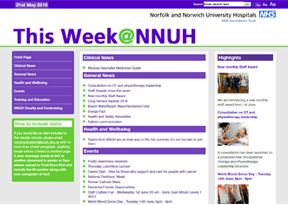 Norfolk and Norwich University Hospitals 'This Week @ NNUH'
