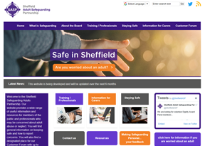 Sheffield Adult Safeguarding Partnership website
