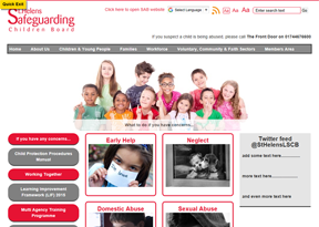 St Helens Safeguarding Children website