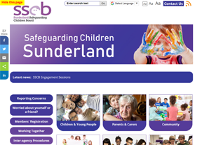 Sunderland Safeguarding Children Board website