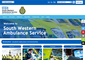 South West Ambulance Service Foundation Trust website