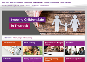 Thurrock Safeguarding Children website