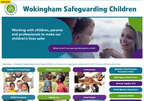 Wokingham Safeguarding Children Board website