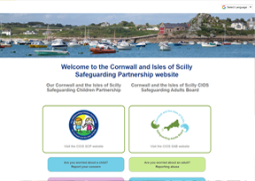 Cornwall and the Isles of Scilly Safeguarding Partnership website