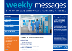 NCH&C Weekly Message